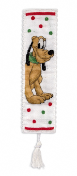 Disney Pluto Bookmark Cross Stitch Kit